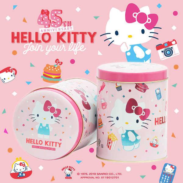 Kitty櫻花粉罐爆米花