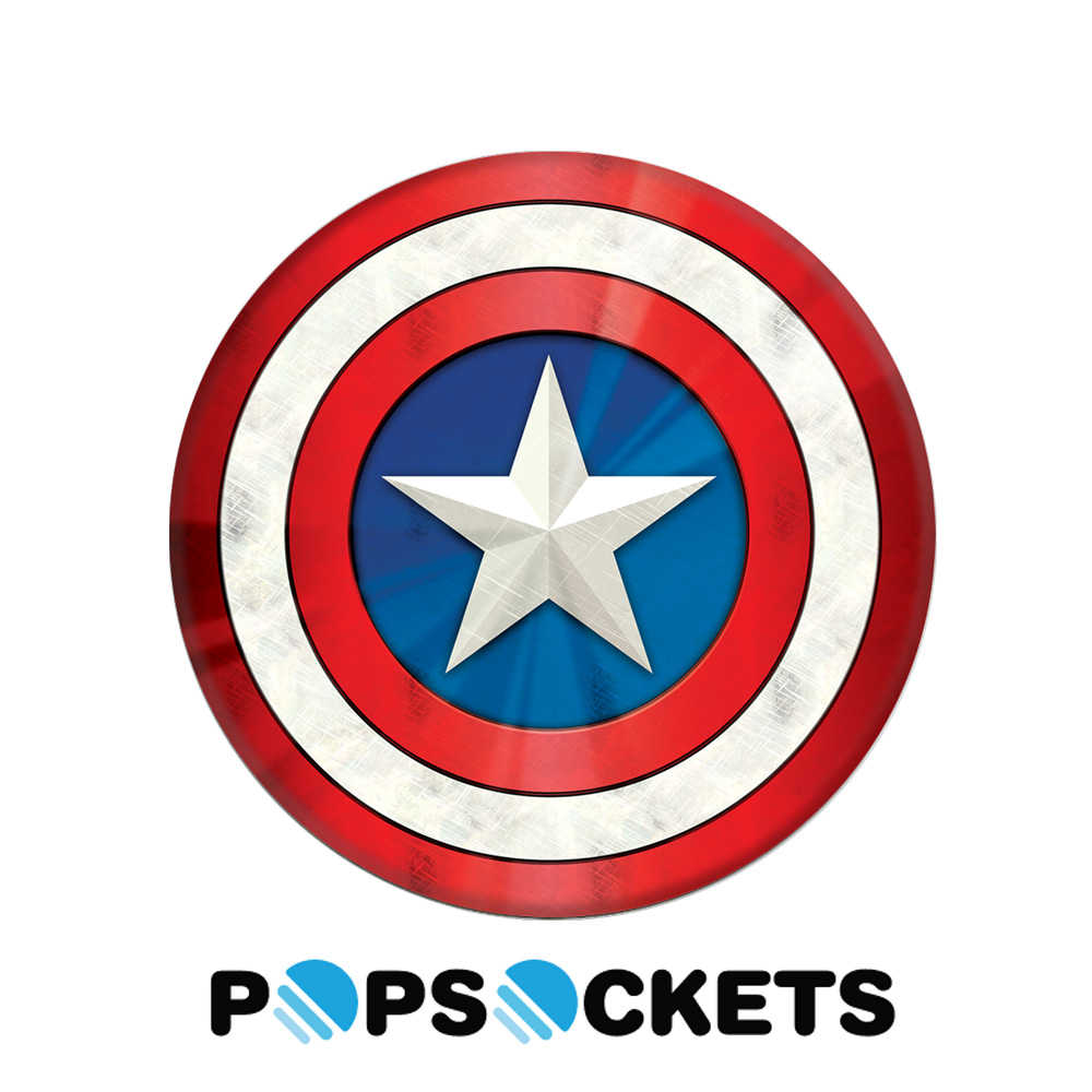 【PopSockets 泡泡騷】美國 No.1 時尚多功能手機支架 - 美國隊長