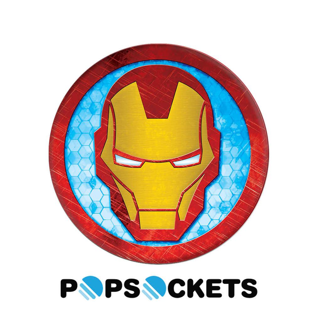 【PopSockets 泡泡騷】美國 No.1 時尚多功能手機支架 - 鋼鐵人