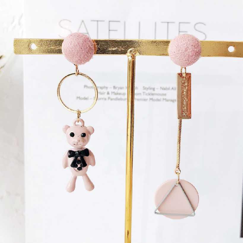創意個性可愛小熊耳環/耳針款
