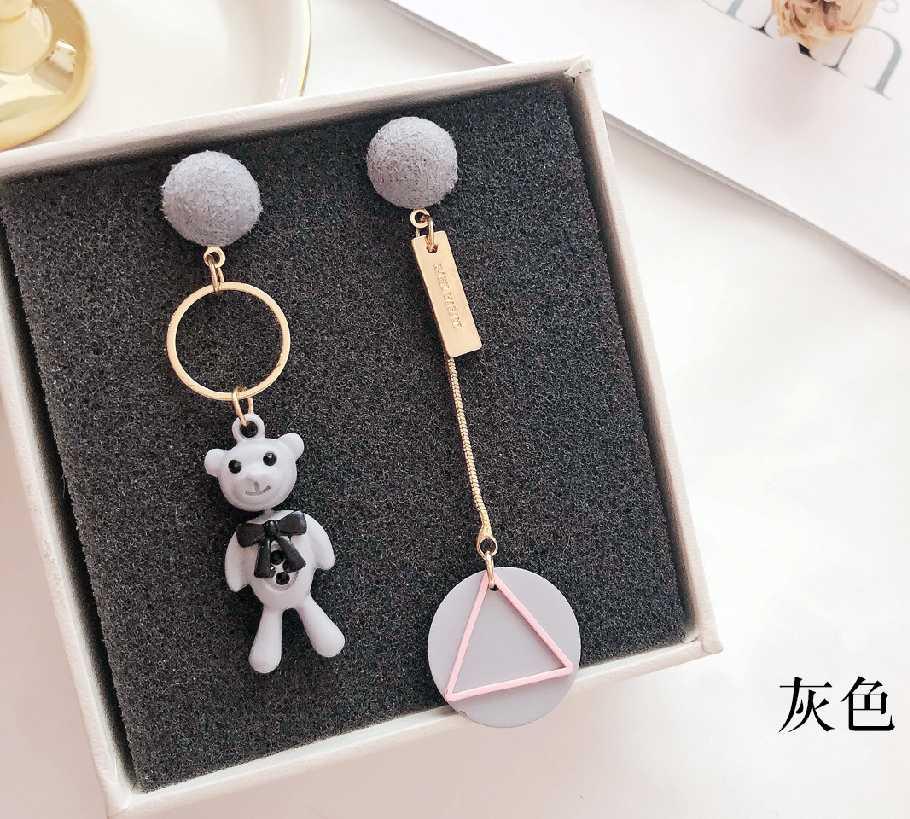 創意個性可愛卡通小熊耳環/耳針款