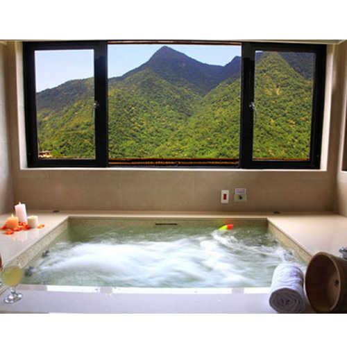 【烏來】雲頂溫泉-90分鐘(雙人景觀湯屋 (單床+大湯池+飲料)