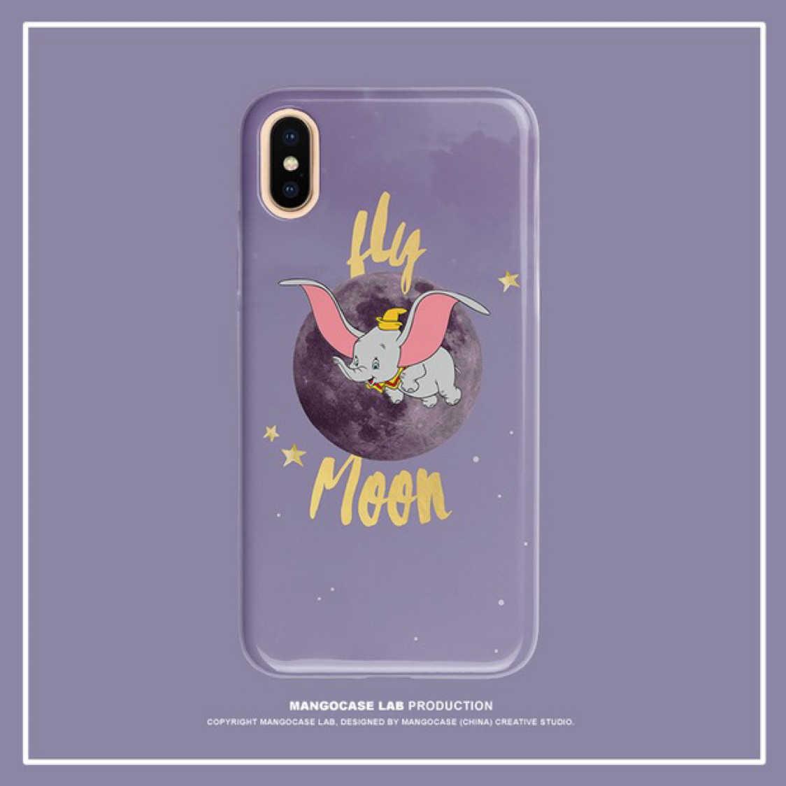 【3C配件】小飛象 iphone 手機殼 夢幻紫