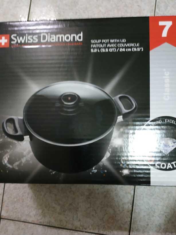 瑞士進口頂級鑽石塗層深底鍋市價19999可多用途煎∼深湯鍋
