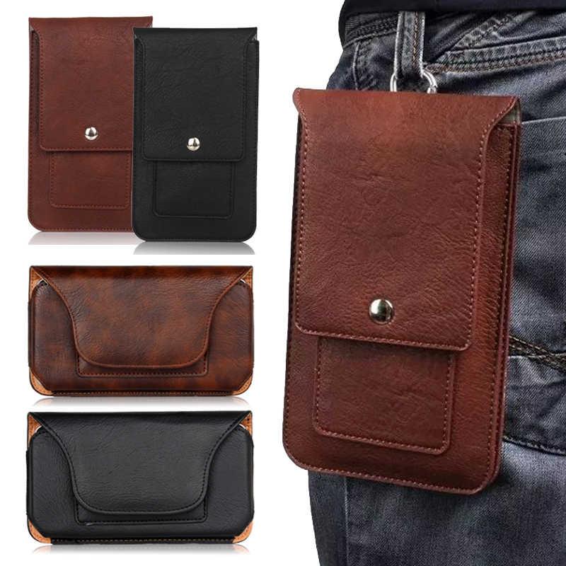 【MK馬克】高質感卡片手機皮革腰包 大容量萬用皮質手機腰包 手機皮套 手機袋 ( 直式 / 橫式 )