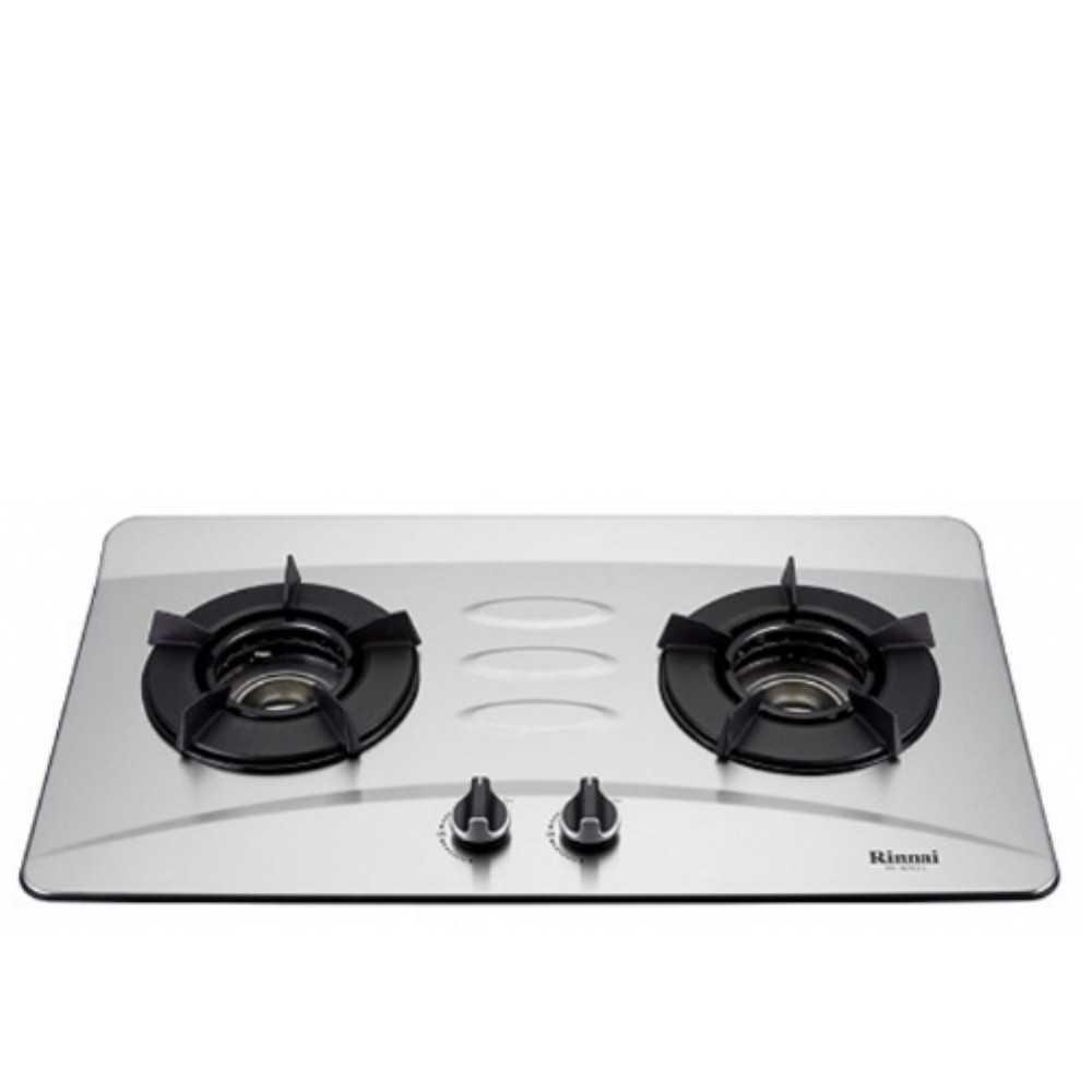 《可議價》林內【RB-N201S_LPG】雙口內焰檯面爐不鏽鋼鑄鐵爐架瓦斯爐桶裝瓦斯(含標準安裝)