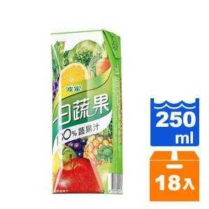 波蜜 一日蔬果100%蔬果汁 250ml (18入)/箱