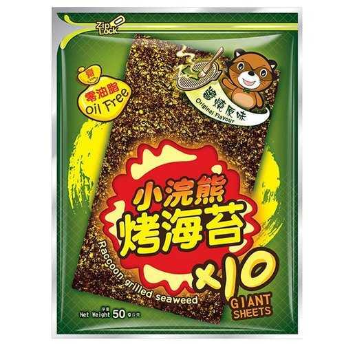 小浣熊 烤海苔-醬燒原味 50g/包