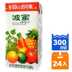 波蜜果菜汁300ml*24入