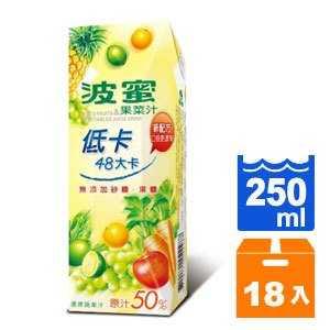 波蜜 低卡 果菜汁 250ml (18入)/箱