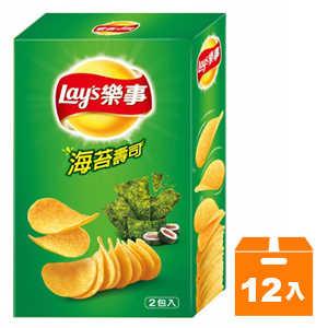 Lay's 樂事 新經濟包海苔壽司味洋芋片 96g (12入)/箱