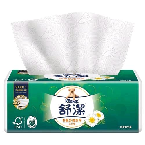 舒潔 特級舒適潔淨洋甘菊萃取抽取衛生紙100抽(8包x8串)