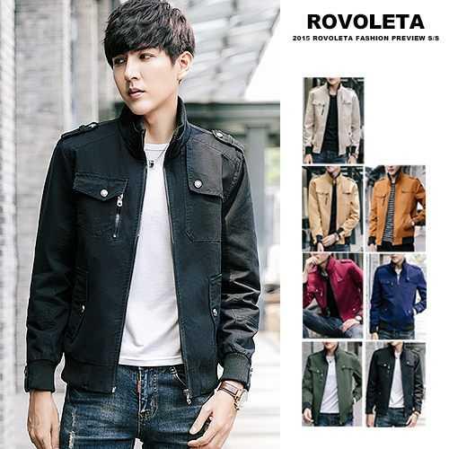 【ROVOLETA】立領多口袋造型夾克外套 防風外套(CA-J1709)