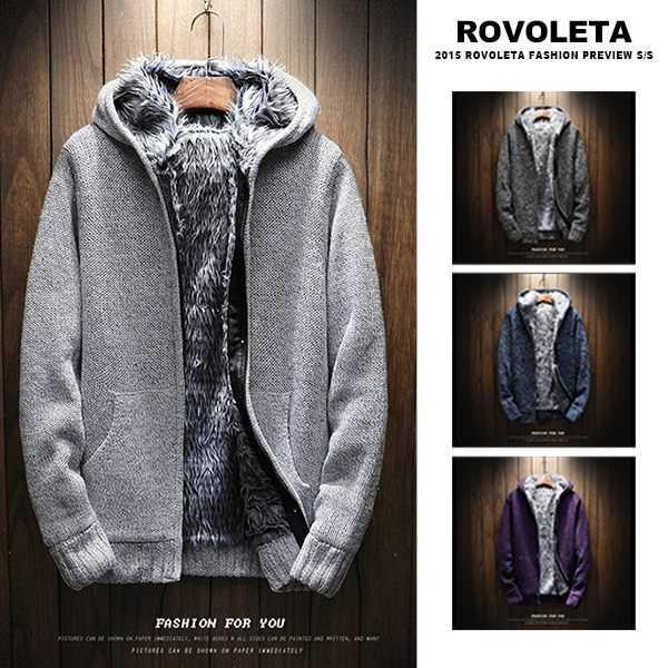 【ROVOLETA】質感內加絨連帽外套 防風外套(TJ-8634)【有閑放閃】