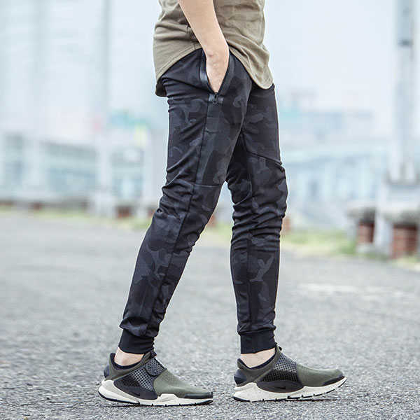 【ROVOLETA】防水拉鍊 迷彩縮口褲(RO-K)【有閑放閃】
