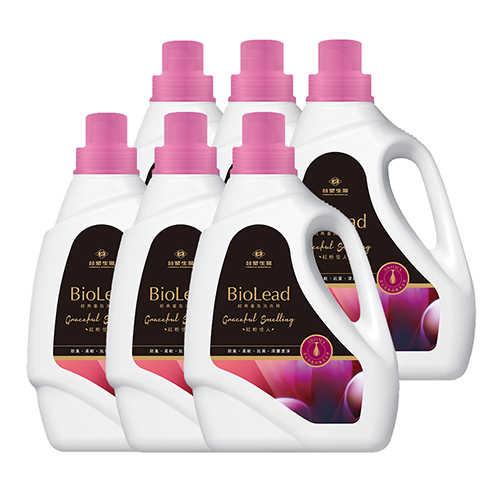 《台塑生醫》BioLead經典香氛洗衣精 紅粉佳人2kg(6瓶入)