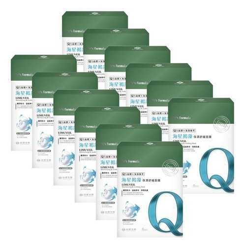 《台塑生醫》Dr's Formula海星褐藻保濕舒緩面膜(5片裝)*12盒入+贈洗沐隨機12g*5包