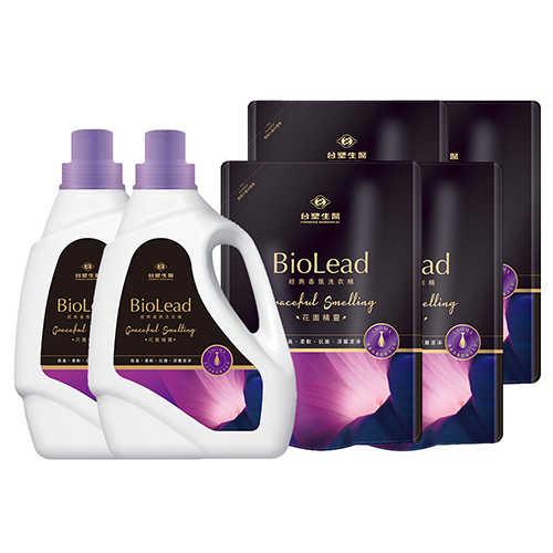 《台塑生醫》BioLead經典香氛洗衣精 花園精靈*(2瓶+4包)