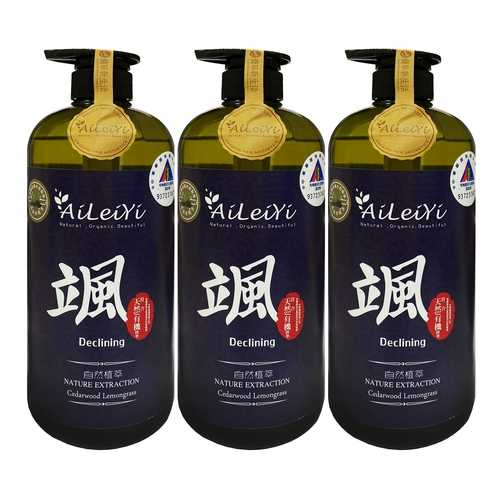 AiLeiYi洋甘菊潤膚沐浴精-颯/雪松檸檬草1000ml(3瓶/組)