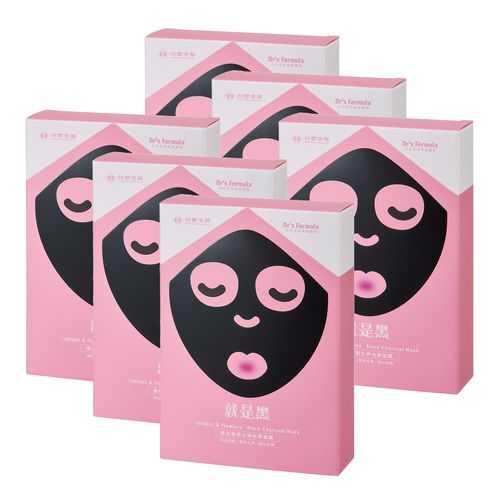 《台塑生醫》Dr's Formula激白無瑕女神光黑面膜(7片/盒)*6盒入