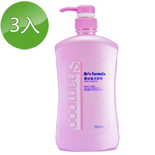 《台塑生醫》Dr's Formula嬰幼童洗髮精700ml(3瓶)+植簡系列洗沐12g*5包