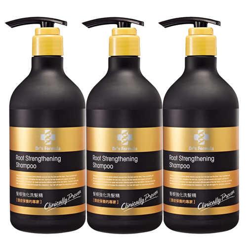 《台塑生醫》Dr's Formula髮根強化洗髮精(580g*3入)+植簡系列洗沐12g*5包