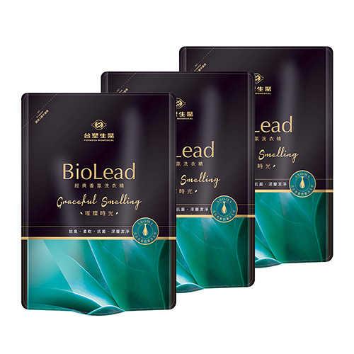 《台塑生醫》BioLead經典香氛洗衣精補充包 璀璨時光1.8kg(3包入)