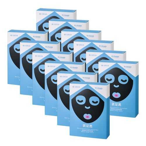 《台塑生醫》Dr's Formula極潤緊俏水娃娃黑面膜(7片/盒)*12盒入+洗沐隨機12g*5包