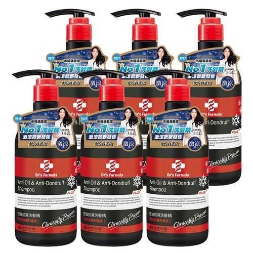 《台塑生醫》Dr's Formula控油抗屑洗髮精升級版(激涼款)580g*6入+油你真好*1入