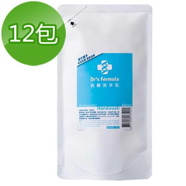 《台塑生醫》Dr's Formula抗菌洗手乳補充包400ml(12包)