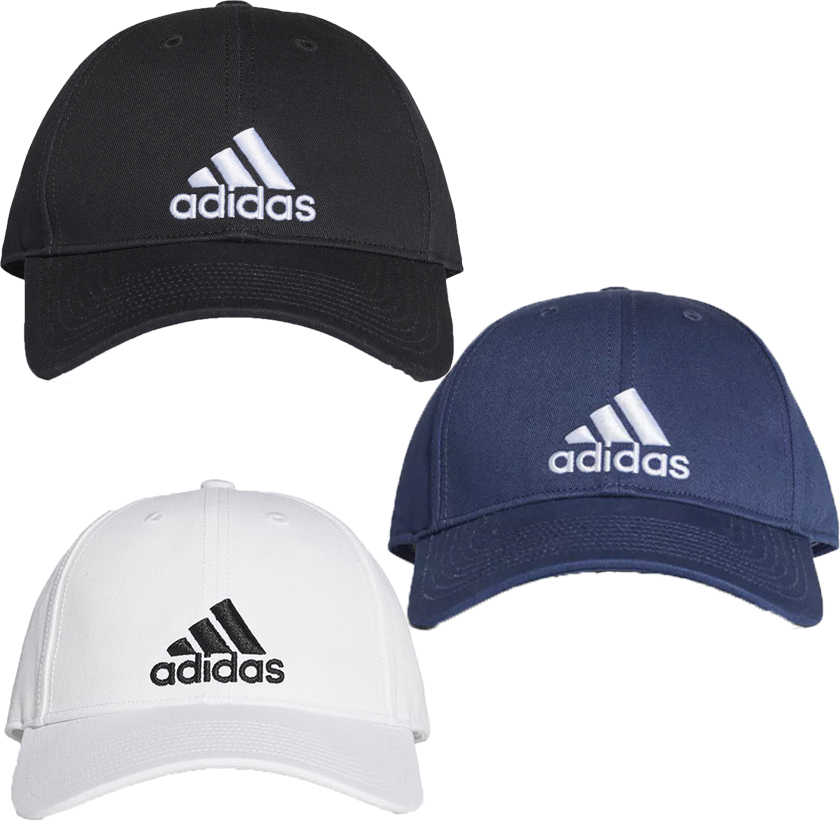 Adidas 6-Panel 帽子 老帽 休閒 黑 / 白 / 藍 【運動世界】