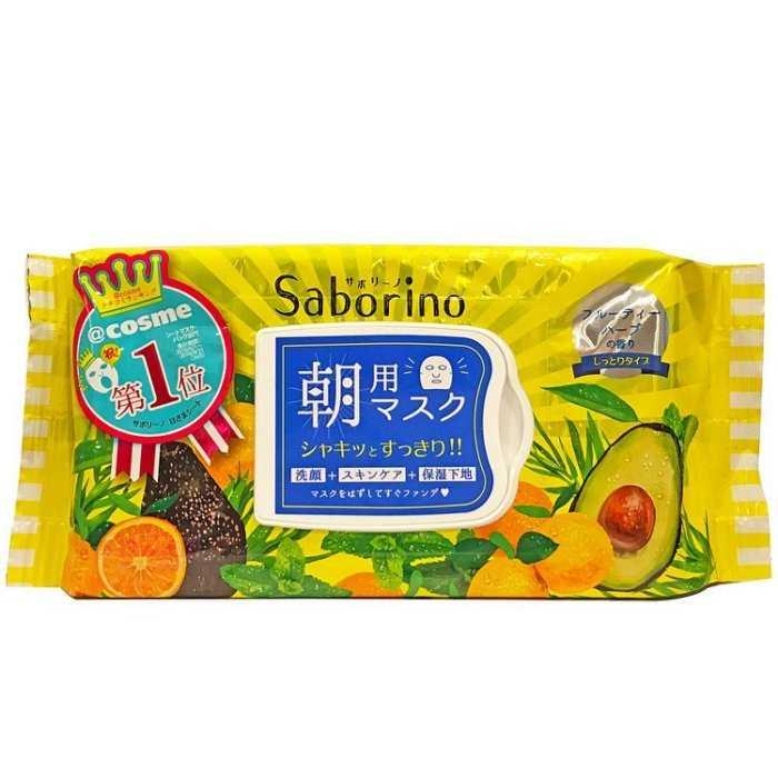 【日本 BCL】SABORINO 早安面膜 水果草本茶香 32枚入 60秒快速保養 現貨