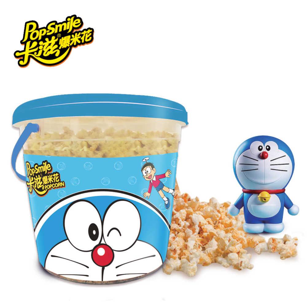 獨家販售 卡滋雙味爆米花 哆啦A夢限定版(原味+焦糖牛奶) 530g/桶