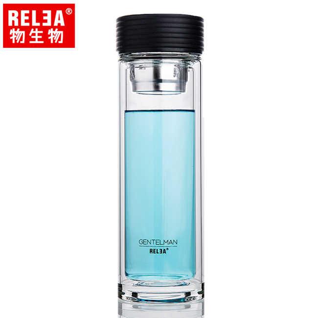 【香港RELEA物生物】280ml 慕尚雙層玻璃杯
