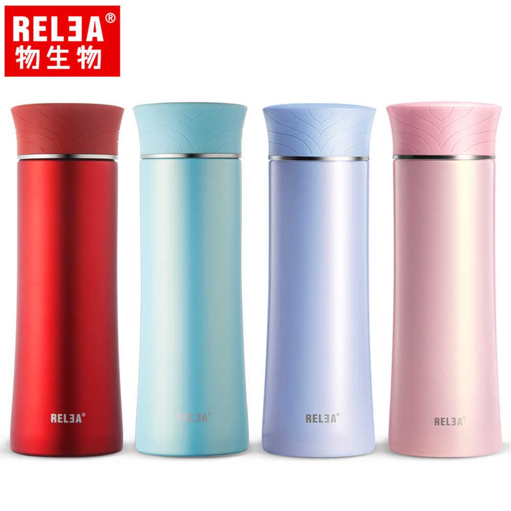 【香港RELEA物生物】400ml清羽316不鏽鋼輕量保溫杯(四色)