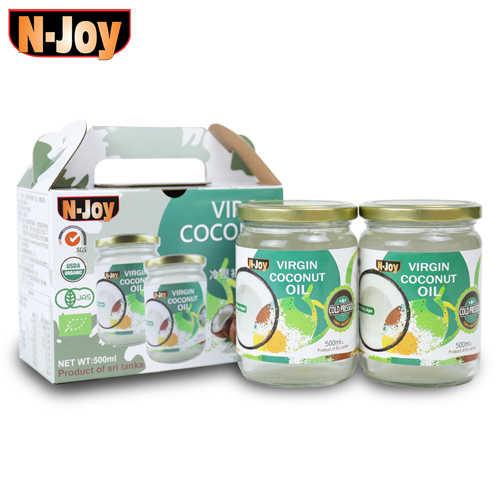 推薦👍🏻【N-Joy 恩久】500ml有機冷壓初榨椰子油禮盒組(2入裝)