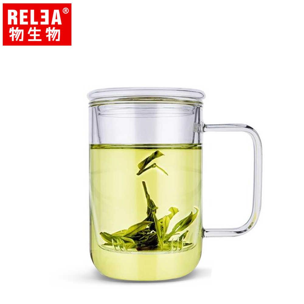 【香港RELEA物生物】420ml君子耐熱玻璃泡茶杯