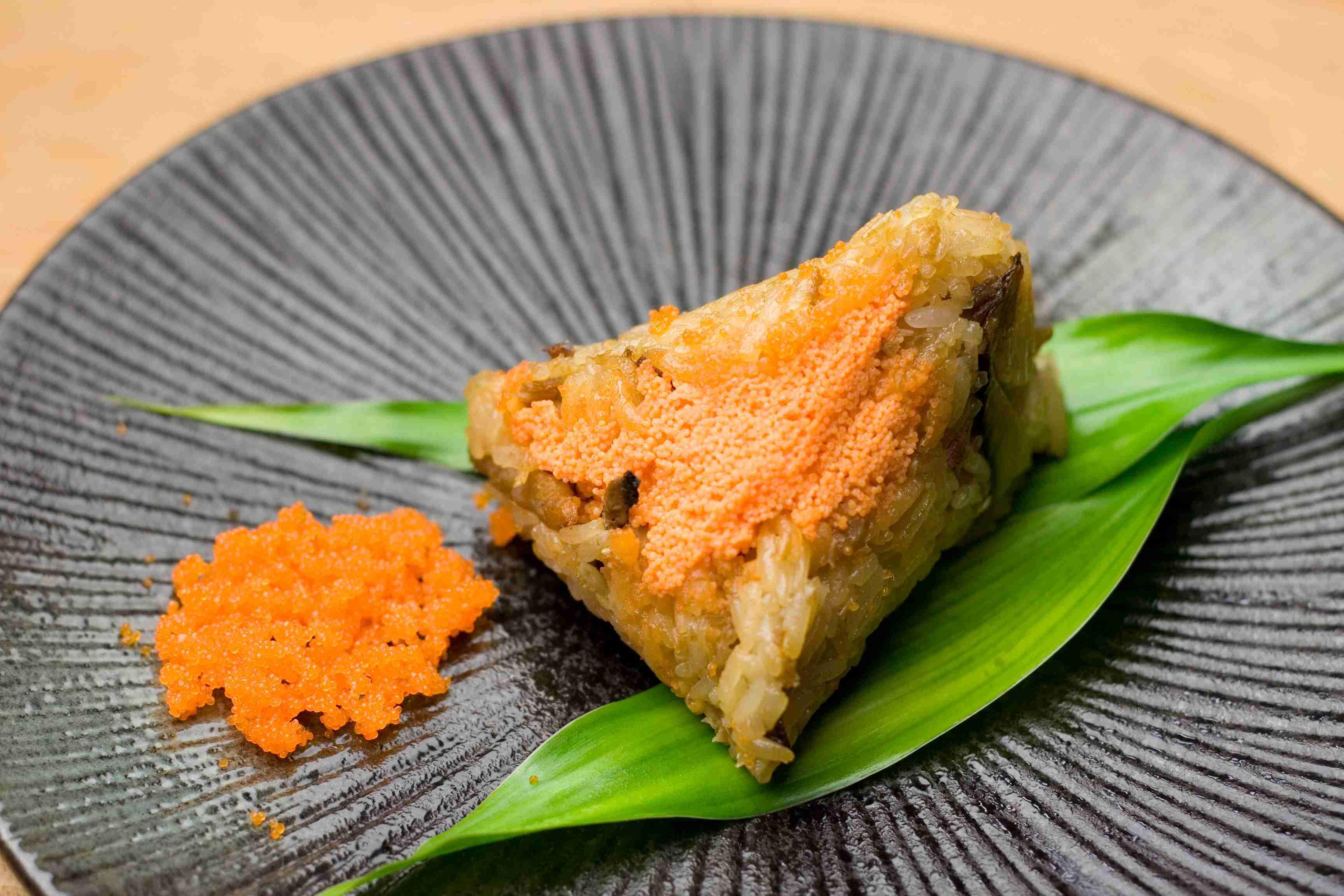 【大嬸婆】飛魚卵肉粽子10顆組(85公克/顆)
