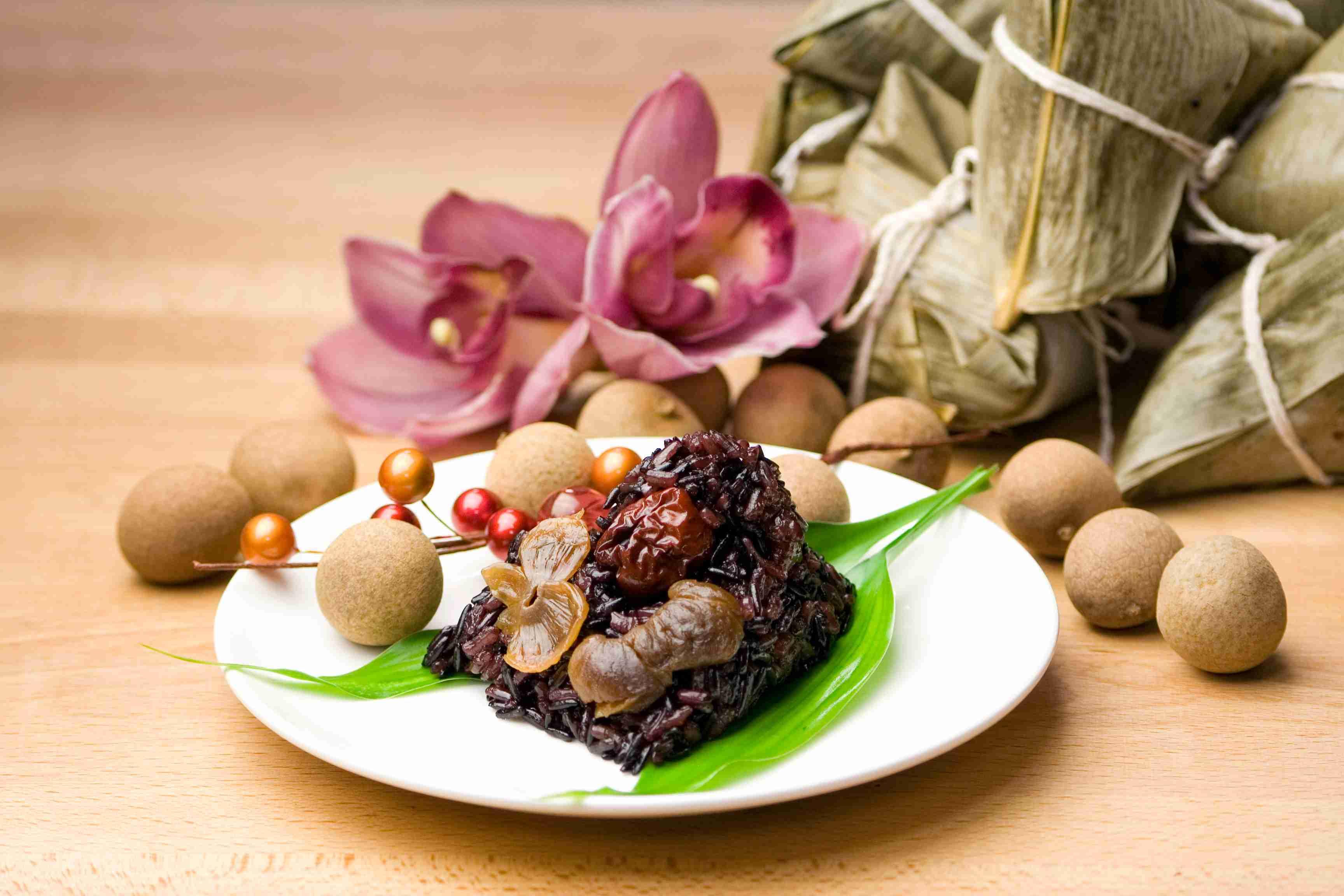 【大嬸婆】桂圓紅棗紫米粽子10顆組(85公克/顆)