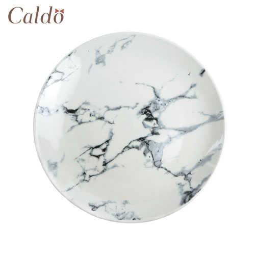 【Caldo卡朵】美式百搭經典大理石紋8吋餐盤