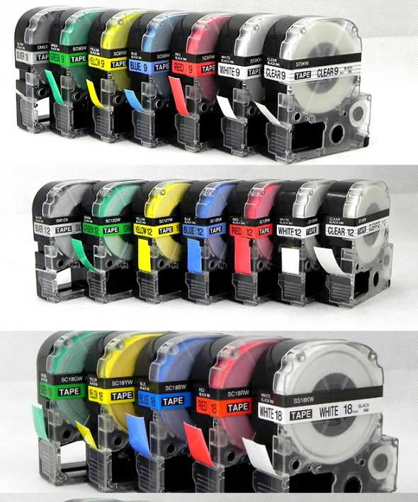 【史萊姆的家】9mm EPSON 標籤帶 LW- 200、400 、500、600、700 色帶