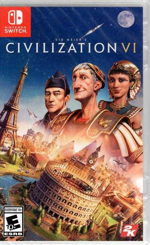 SWITCH遊戲NS 文明帝國 6 Sid Meier's Civilization 6 中文版