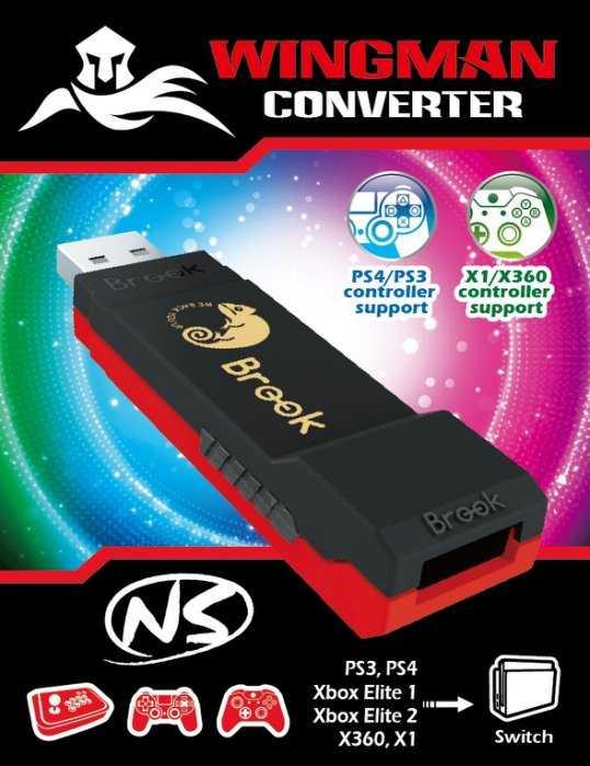 Brook超級轉接器 Wingman NS 支援PS3 PS4 X1 X360 搖桿 轉Switch