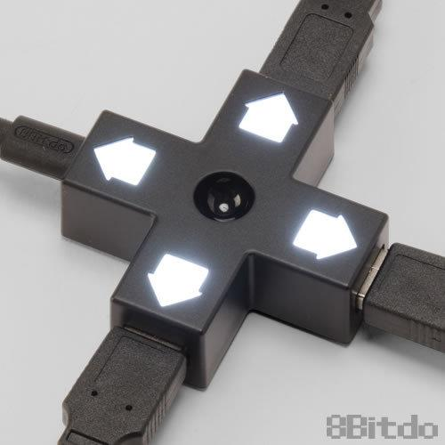 XBOXONE日本 CYBER日本原裝 8BITDO DPAD USBHUB 十字按鍵式設計3端口USB轉接