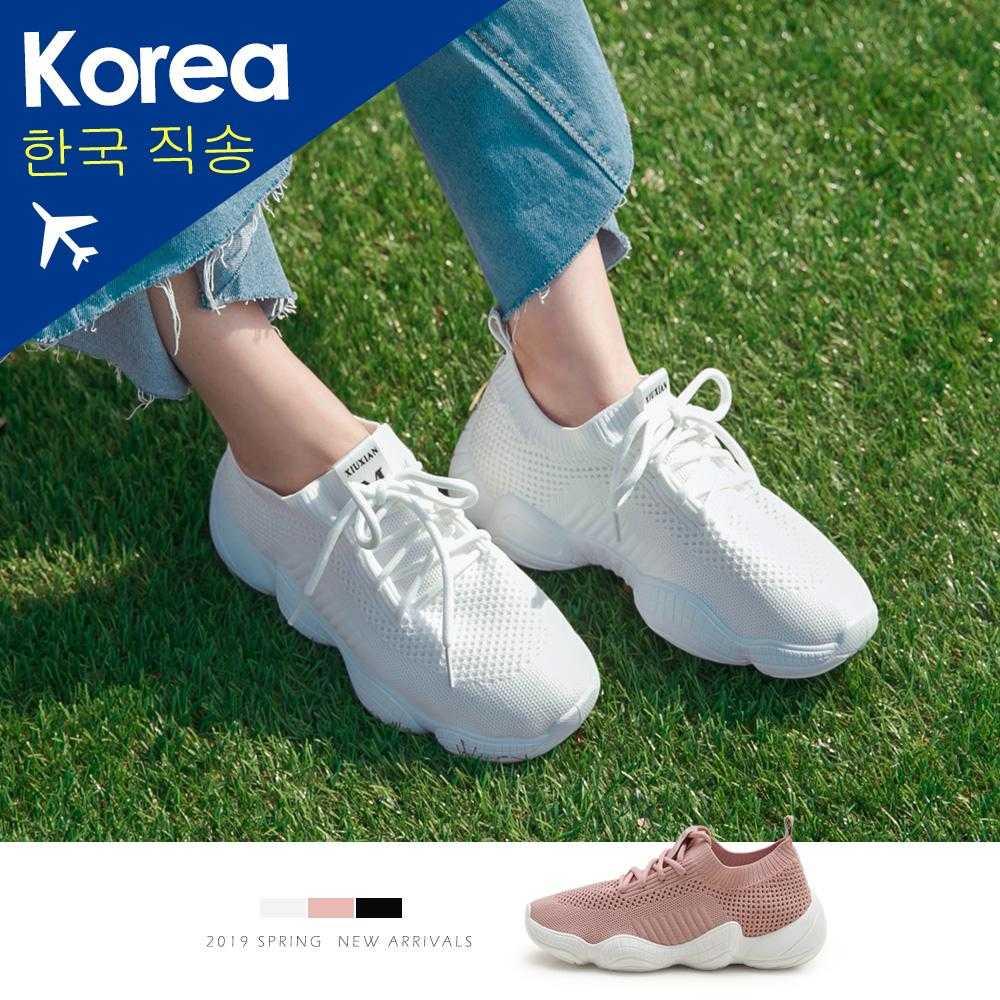 韓-飛織網布老爹鞋
