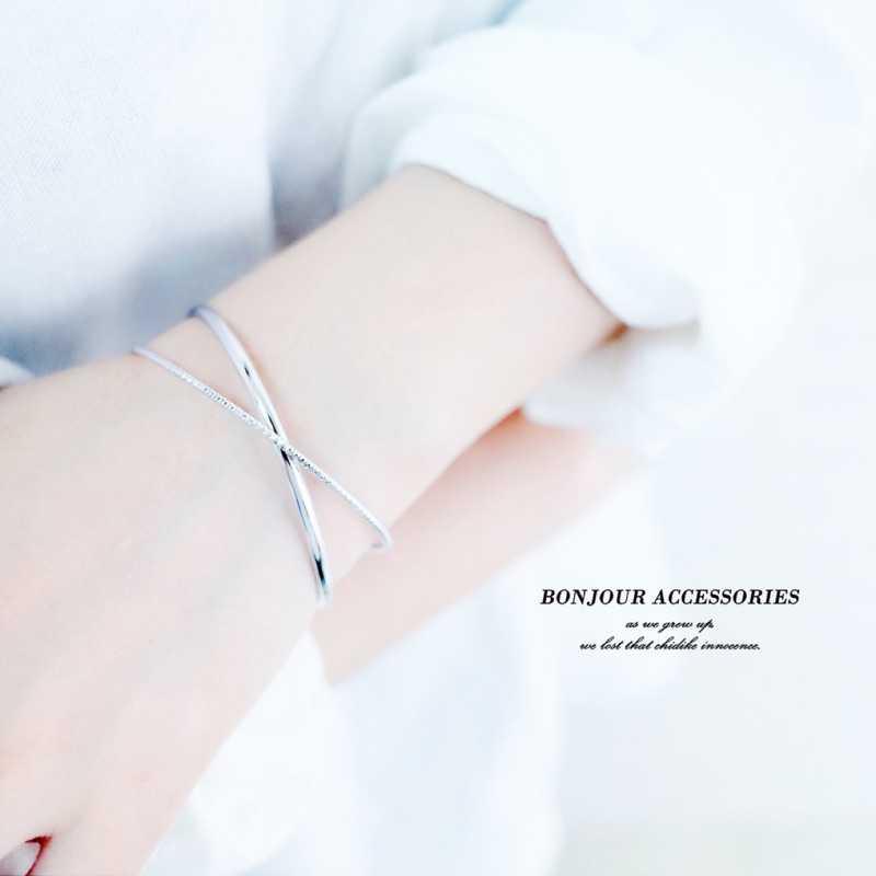 【Bonjouracc】韓國簡約交叉易扣 手環