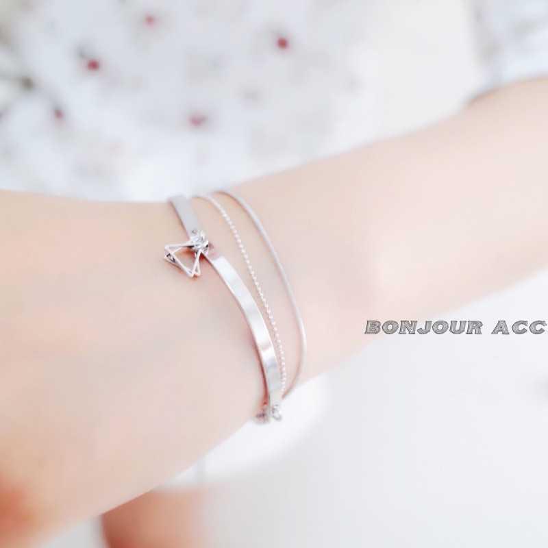 【Bonjouracc】韓國多層次 三角 造型 手鏈 手環