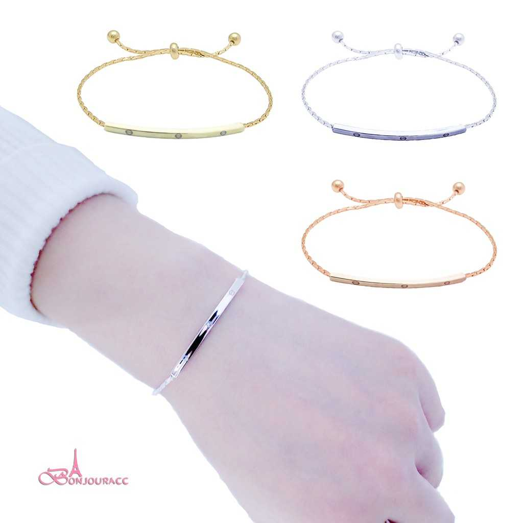 【Bonjouracc】兩入組 韓國百搭閨蜜手鍊 簡約可調 手鏈 手環