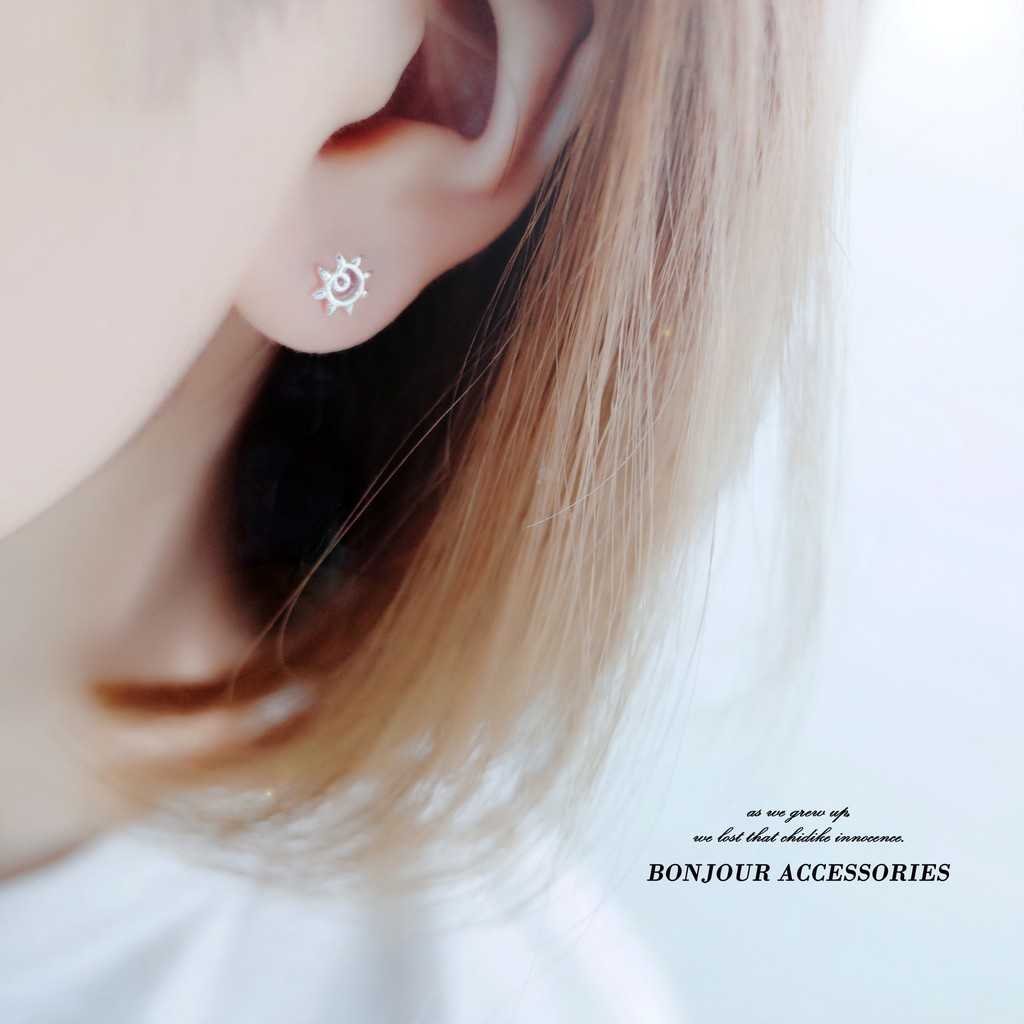 【Bonjouracc】韓國星空組百搭星月 925銀針 耳環