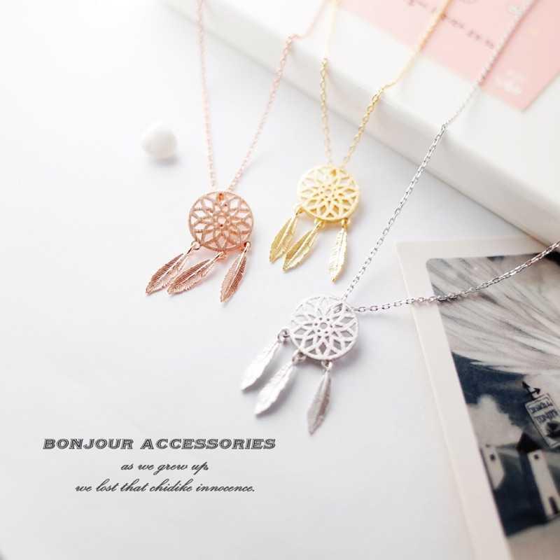 【Bonjouracc】韓國捕夢網項鍊 鎖骨鍊 短鏈 項鍊 補夢網 手鍊